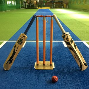 Indoor cricket.