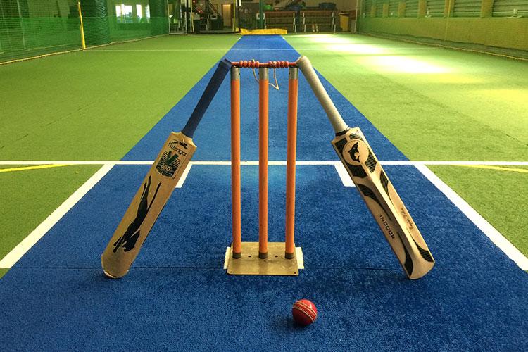 Indoor cricket.